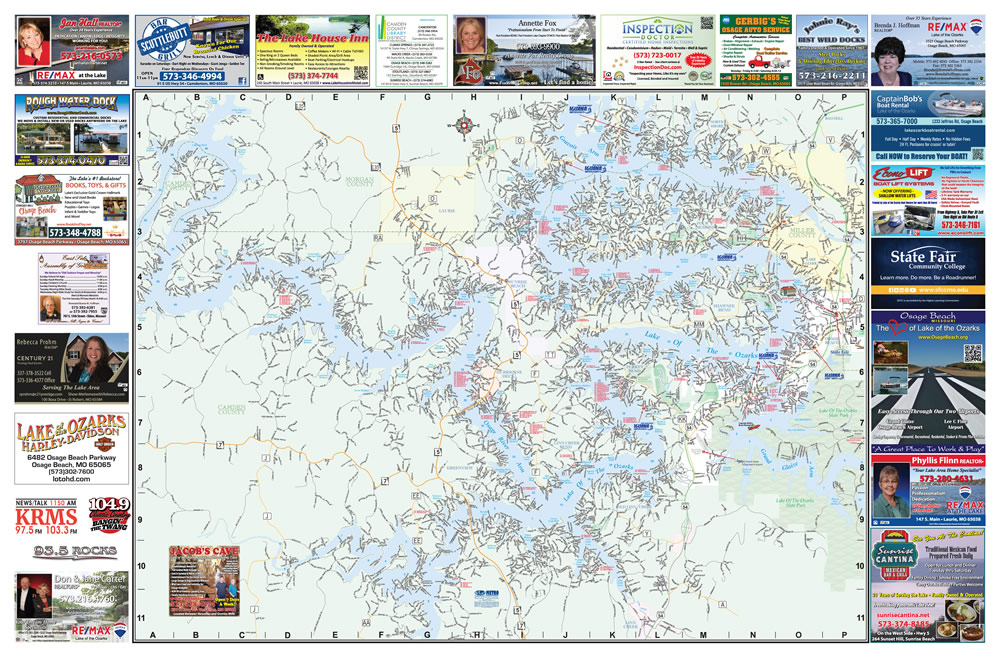 Map Of The World 2018 187 Party Cove Lake Of The Ozarks Map